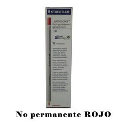 LAPIZ STD MARCADOR NON-PERMANENT ROJO 108-2