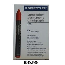 CRAYON  STD LUMOCOLOR PERMANENT 236-2  ROJO