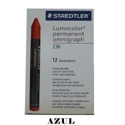 CRAYON STD LUMOCOLOR PERMANENT 236-3  AZUL
