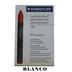 CRAYON STD LUMOCOLOR PERMANENT 236-0  BLANCO