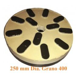 MUELA  GRANITO DIAMANTADA D. 250 GR. 400   RESINA